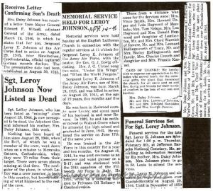 JOHNSON_LEROY_E_NEWSPAPER ARTICLE